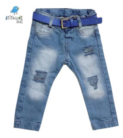 Calça Michael - Jeans rasgadinho