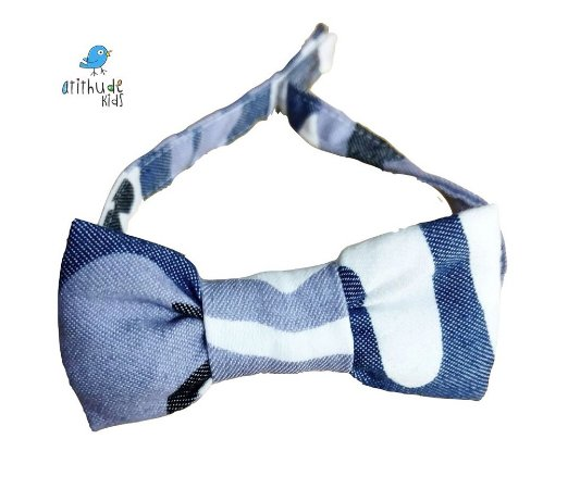 Gravata Borboleta - Camuflado Azul