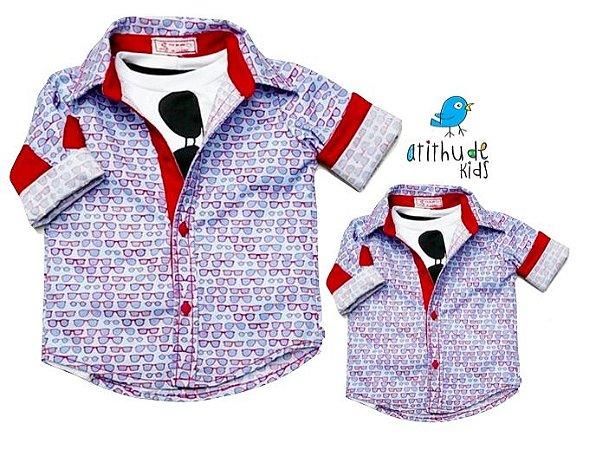 Kit camisa Theodoro - Tal pai, tal filho (duas peças)