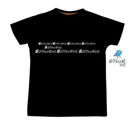 Camiseta Atithude Kids - Preta