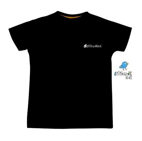 Camiseta AK- Atithudekids - Preta