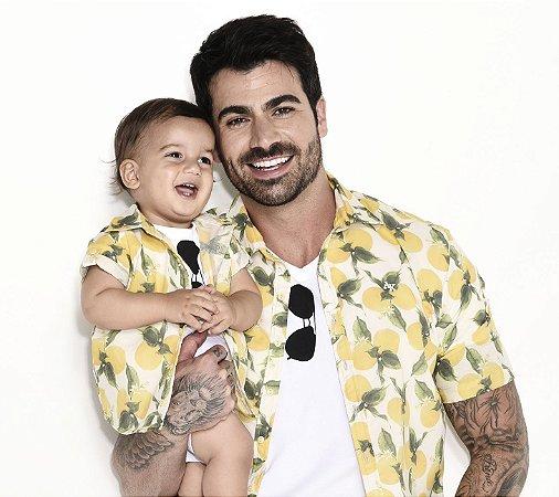 Camisa Ícaro - Estampa Limão | Viscolinho