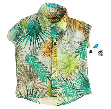 Camisa Alfredo - Estampa Folhas