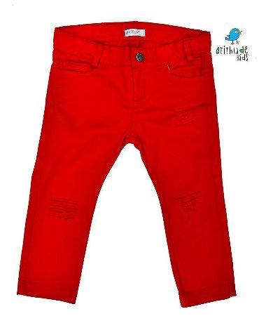 Calça Axel - Vermelha rasgadinha