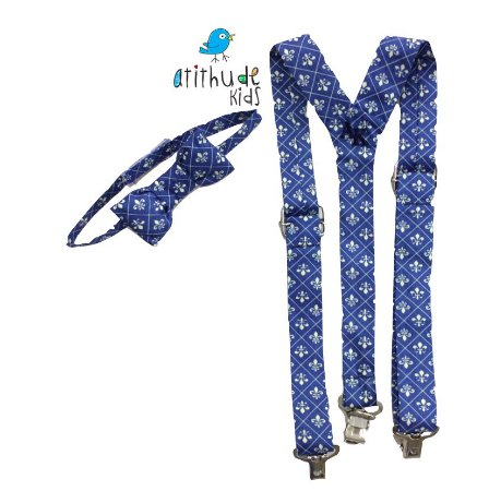 Kit suspensório + gravata borboleta