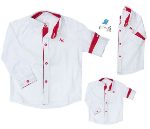 Kit camisa Alcides - Família (três peças) | Vermelha | Mickey