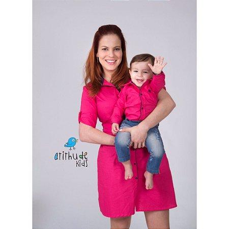 Conjunto Biel - Mãe e filho | Vestido e camisa
