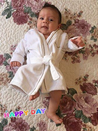 Roupão Infantil - Branco | Menino e Menina