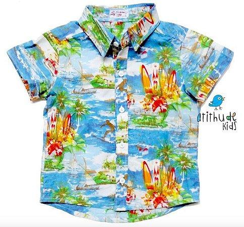Camisa Max - Estampa Hawaii   Adulta Masculina