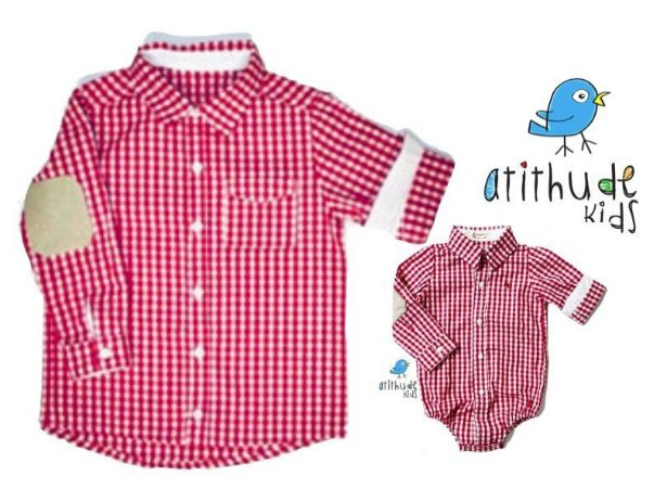 Kit camisa Francesco - Tal pai, tal filho (duas peças) | Fazendinha | Xadrez