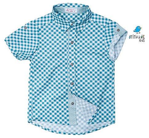 Camisa Oliver - Adulta  | Fazendinha | Xadrez