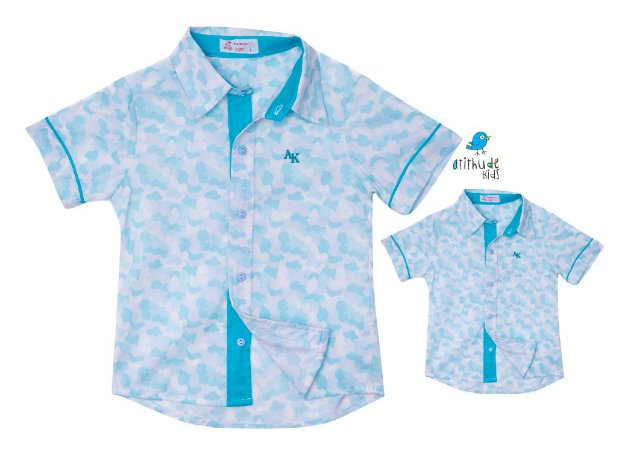 Kit camisa Charles - Tal pai, tal filho (duas peças)