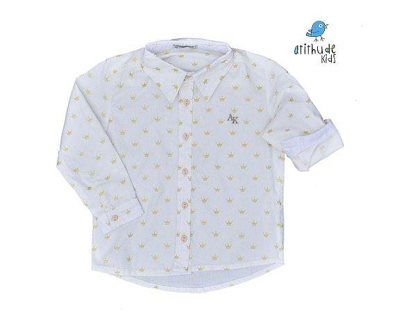 Camisa Evair - Branca Coroa Dourada   Pequeno Príncipe   Mickey