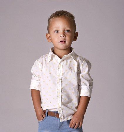 Camisa Evair - Branca Coroa Dourada | Pequeno Príncipe