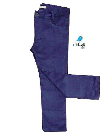 Calça Scott - Azul Marinho | Veludo Cotelê
