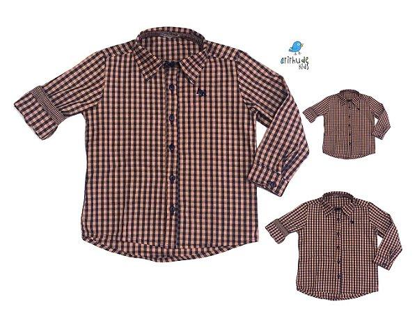 Kit camisa Cadú - Família (três peças) | Xadrez Laranja