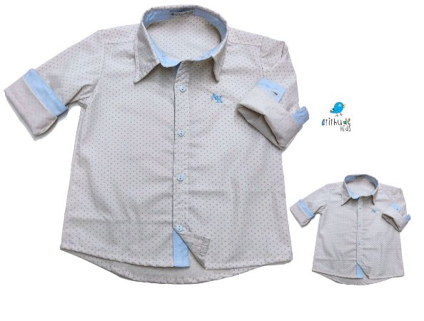 Kit camisa Alec - Tal pai, tal filho (duas peças)