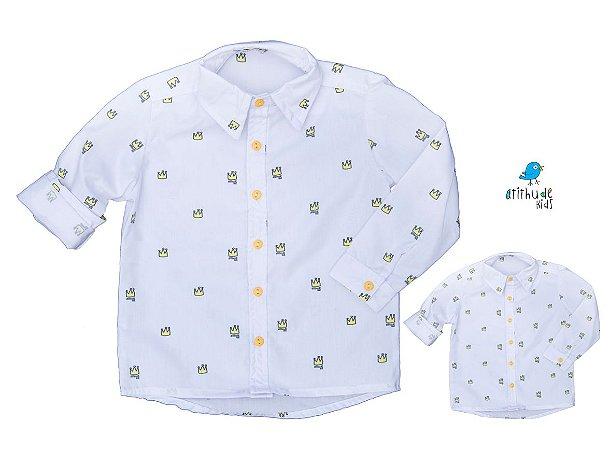 Kit camisa Meu Príncipe - Tal pai, tal filho (duas peças) | Personalize com as inicias dos nomes