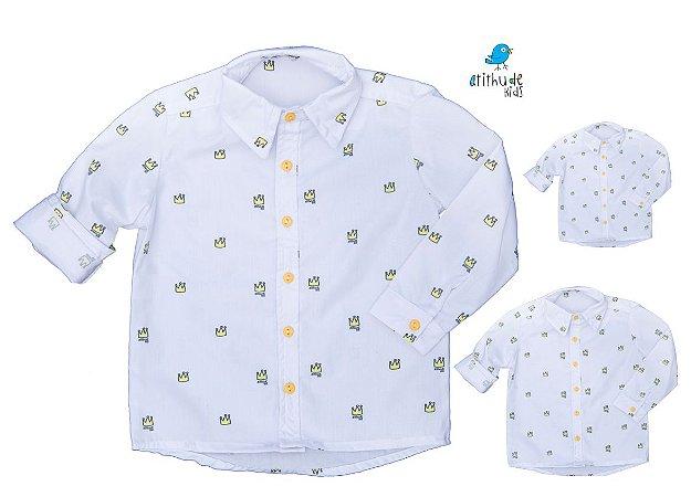 Kit camisa Meu Príncipe - Família (três peças) | Manga Longa | Personalize