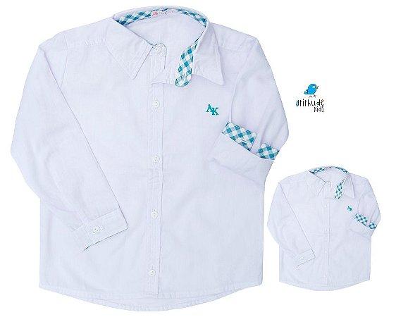 Kit camisa Mike - Tal pai, tal filho (duas peças) | Azul