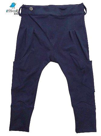 Calça Saruel Guilherme - Azul Marinho | Moletom