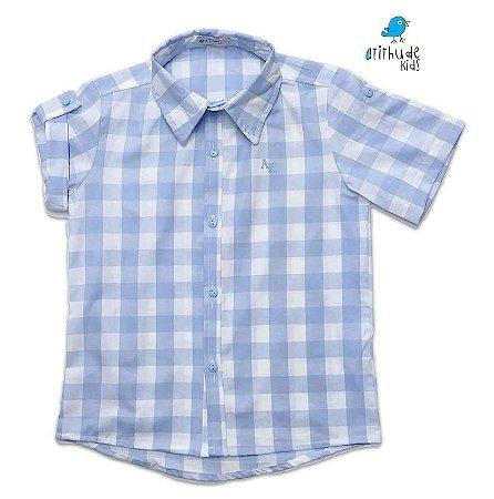 Camisa Cadú - Xadrez Azul Claro | Fazendinha