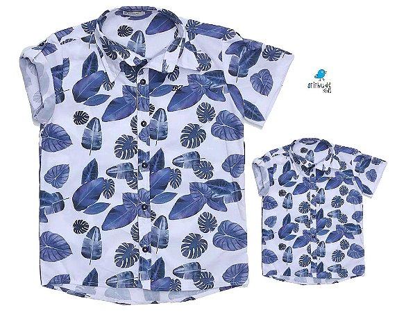 Kit Camisa Ben - Tal mãe, tal filho (a) (duas peças) | Folhas Azul