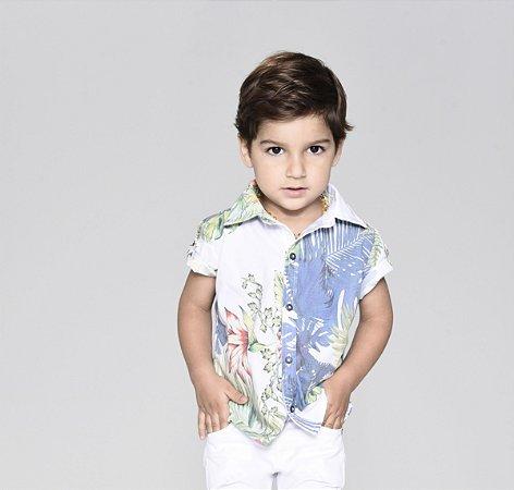 Camisa Vicente - Folhas Coloridas