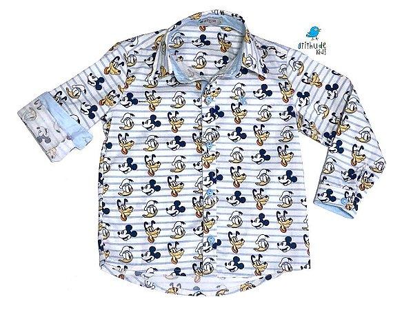 Camisa Mickey - Adulta  | Pluto Pato Donald Mickey