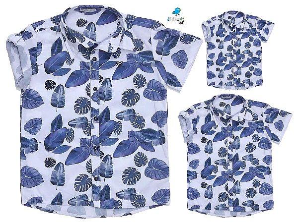 Kit camisa Ben - Família (três peças) |Folhas