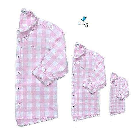 Kit camisa Cadú - Família (três peças) | Xadrez