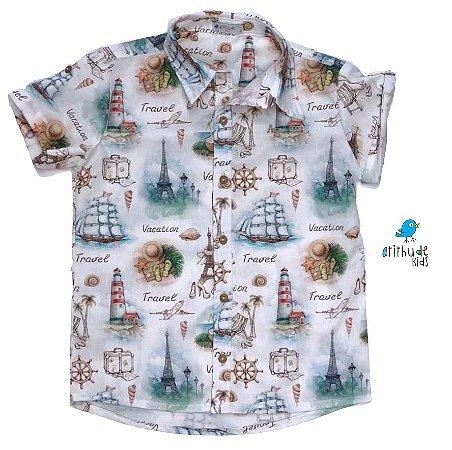Camisa Nico - Estampada | Marinheiro | Náutico