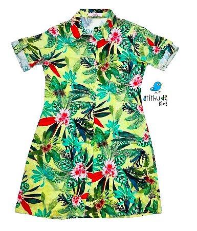 Vestido Marina - Floral Verde | Adulto Feminino