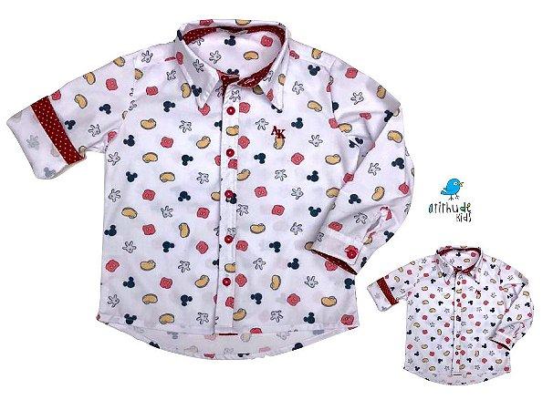 Kit Camisa Meu Mickey - Tal mãe, tal filho  (duas peças) | Personalize com as inicias do nome