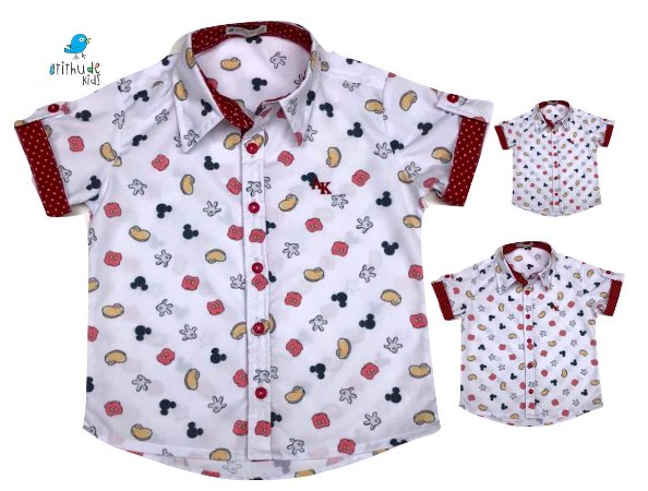 Kit camisa Meu Mickey - Família (três peças) | Manga Curta | Personalize