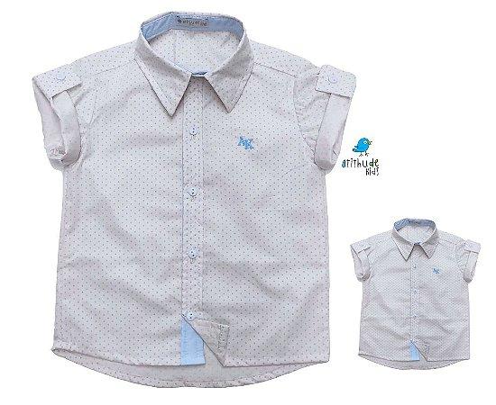 Kit Camisa Alec - Tal mãe, tal filho  (duas peças) | Poá Bege