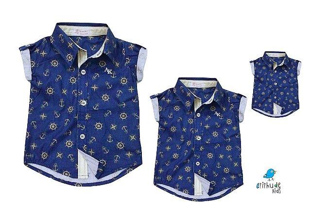 Kit camisa Bruno - Família (três peças) | Fundo do mar