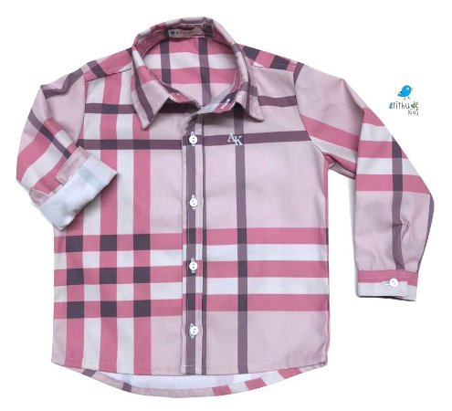 Camisa Rafael - Xadrez Rosa