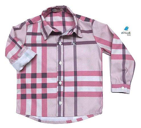 Camisa Rafael - Adulta | Xadrez Rosa