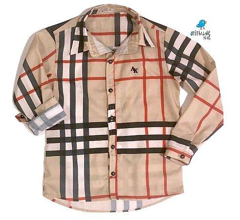 Camisa Rafael - Adulta |Xadrez Bege