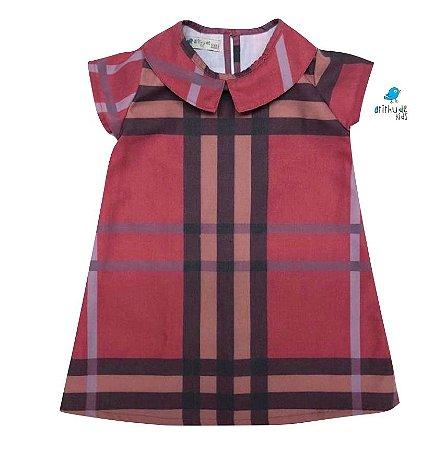 Vestido Rafaela - Xadrez Vermelho | Sarja