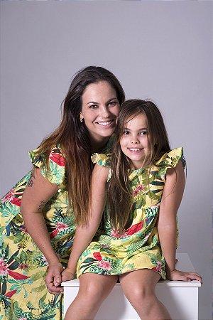 Kit vestido Marina - floral | Mãe e filha