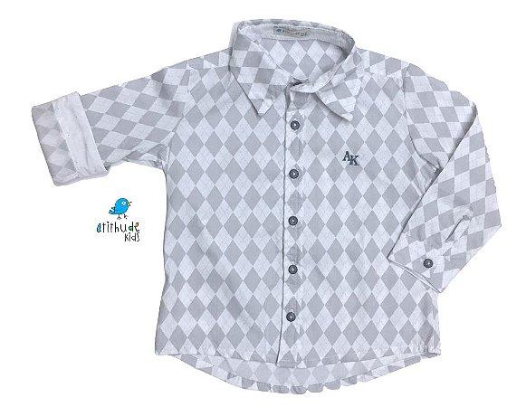 Camisa Gael - Cinza losango