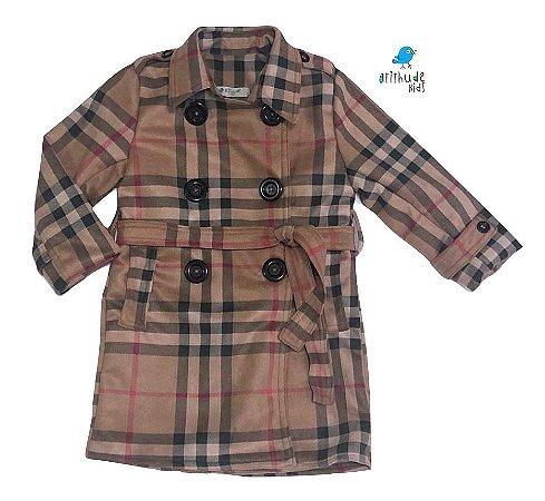 Trench Coat Rafaela - Xadrez Bege | Suede