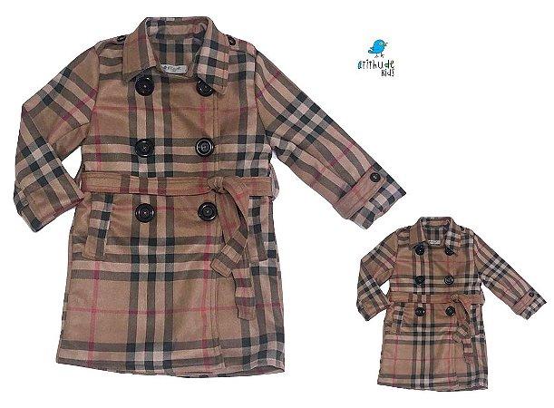 Kit Trench Coat Rafaela - Tal mãe, tal filha  (duas peças)