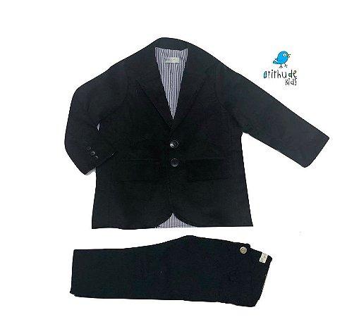 Conjunto Scott - Veludo Cotelê Preto | Blazer e calça (duas peças)
