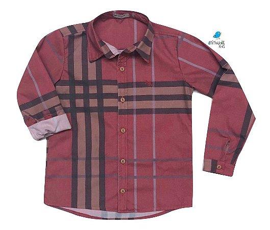 Camisa Rafael - Adulta |Xadrez Vermelha
