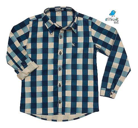 Camisa Tom - Xadrez Verde e bege   Fazendinha