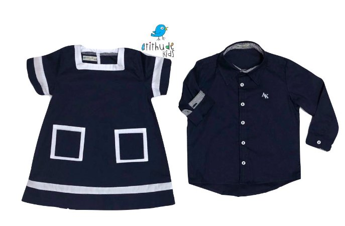 Conjunto Nicole e Nicolas - Vestido e Camisa | Navy