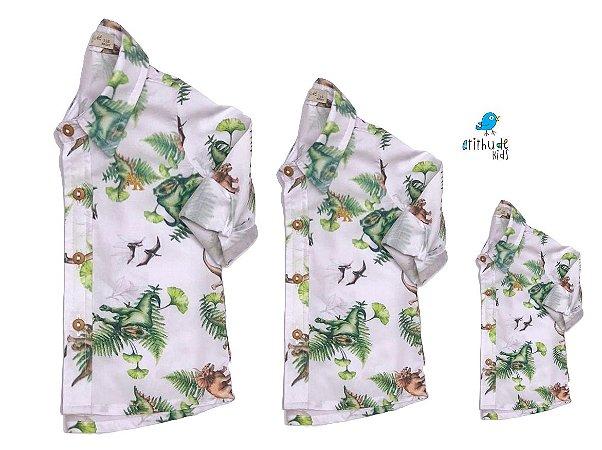 Kit camisa Beto - Família (três peças) | Manga Longa | Dino